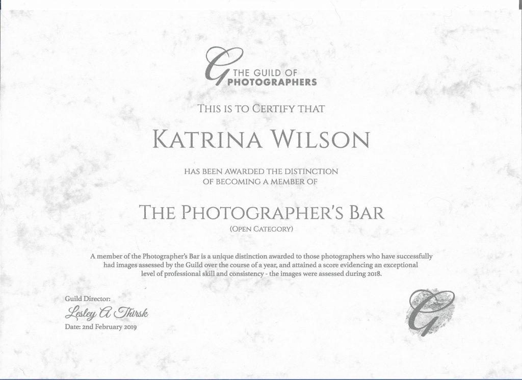 KWP - Guild Photographers Bar